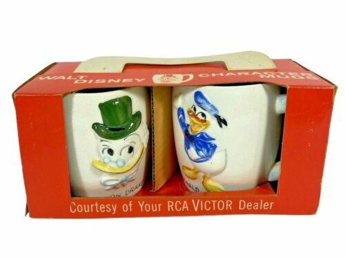 1961 Disney Japan Ceramic RCA Victor Promotion Donald and Ludwig Von Drake Mug