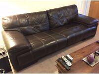 Sofology 3 seater leather sofa