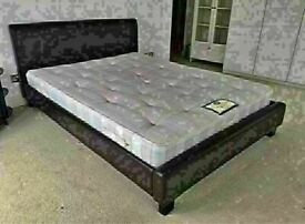 🔵💖🔴AMAZING OFFER 🔵💖🔴FAUX LEATHER BED WITH MATTRESS AVAILABLE IN SINGLE,DOUBLE/KING SIZE