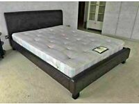 🔵💖🔴SPECIAL PRICE🔵💖🔴FAUX LEATHER BED WITH MATTRESS AVAILABLE IN SINGLE,DOUBLE/KING SIZE