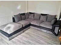 BRAND NEW UK MANUFACTURED DINO LEATHER JUMBO CORD CORNER OR 3+2 SOFA SET
