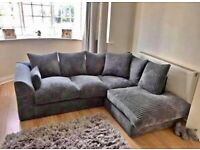 🤩 🥳BRAND NEW DYLAN JUMBO CORD CORNER OR 3+2 SEATER SOFA SET IN STOCK BUY FROM HERE🤩