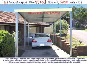 new  flat carport 6 x 3 $ 950 or 9 x 3 $ 1450 Ingleburn Campbelltown Area Preview