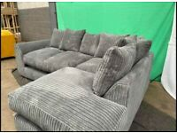 BRAND NEW DYLAN JUMBO CORD CORNER OR 3+2 SEATER SOFA IN STOCK