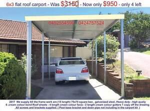 new  flat carport 6 x 3 $ 950 or 9 x 3 $ 1450 Ingleburn Campbelltown Area Preview