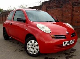 2003 NISSAN MICRA 1.0 PETROL RED 3 DOOR MANUAL WITH M.O.T BARGAIN!