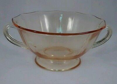 Fostoria Fairfax Soup Bowl Footed Topaz Yellow