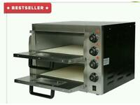 Commercial Electric Double Deck Stone pizza oven catering equipment. Brand New