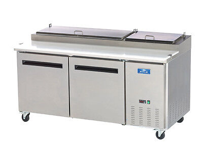Arctic Air App71r 71 Stainless Steel Pizza Prep Table Cooler
