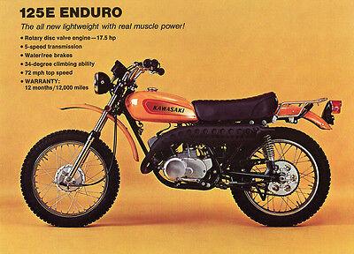 1973 KAWASAKI Z1 900 VINTAGE MOTORCYCLE POSTER PRINT 18x24 9MIL PAPER