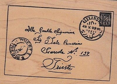 """signoria letter stampa Wood Mounted Rubber Stamp 2 1/2 x 3 1/2""""  Free Shipping"""