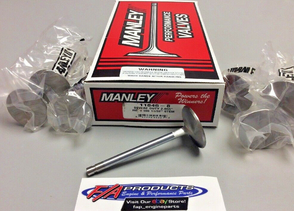 "Manley 11846-1 2.055"" Small Block Chevy Severe Duty +.100"" SINGLE Intake Valves"