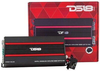 DS18 Candy-XXL1B 3000 Watt Mono Amplifier Class D Monoblock 1 Channel Car Amp ()