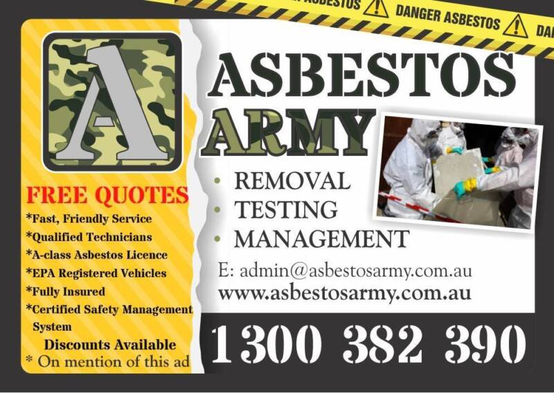 Asbestos army pty ltd other building construction gumtree asbestos army pty ltd yelopaper Choice Image