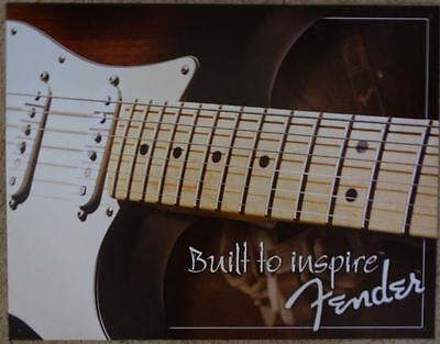 Fender Guitars Built to Inspire Metal Sign Tin New Vintage Style USA #1859