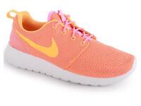 Nike Roshe run orange trainers, size 9.5