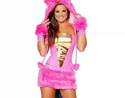 J. Valentine Hot Pink Unicorn Costume corset, faux fur skirt and rainbow tail! - Unicorn Corset