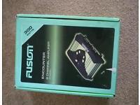 FUSION car audio amplifier.