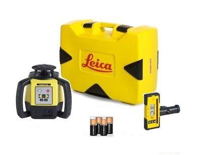 Rotating Laser Leica Rugby 640 W Rod Eye 120 Alkaline Package 6011154