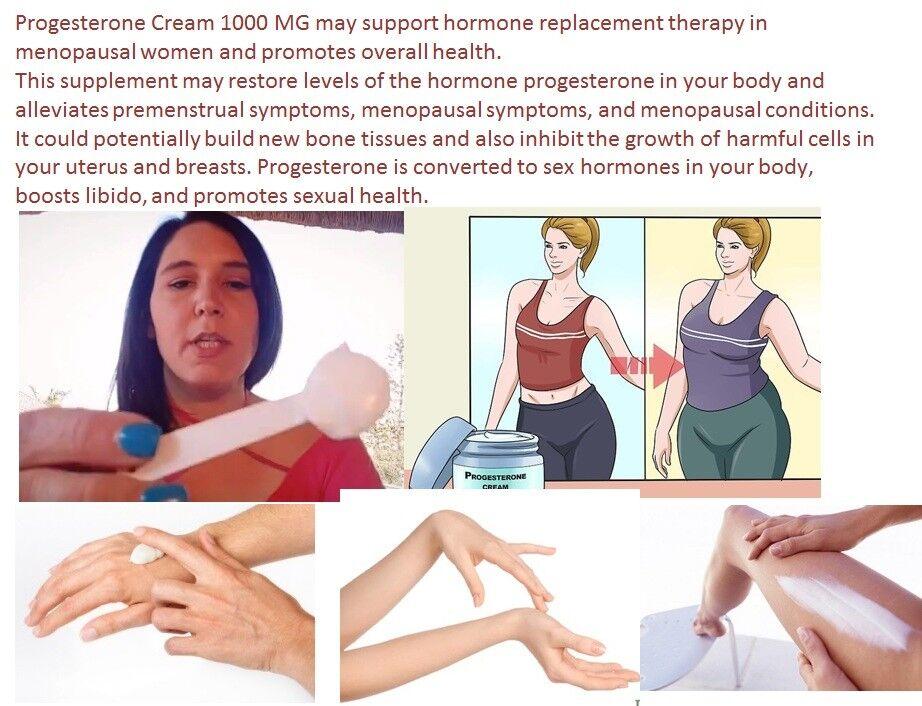 2 Natural Progesterone 1000mg Cream Xtra strength certificate Feminine Balance  2
