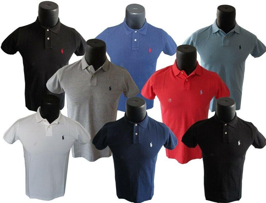 Ralph Lauren Poloshirt Custom Fit in 8. Farben Größe S M L XL 2XL 3XL
