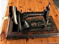 ANTIQUE MID CENTURY 1960'S - Black Sewing Machine