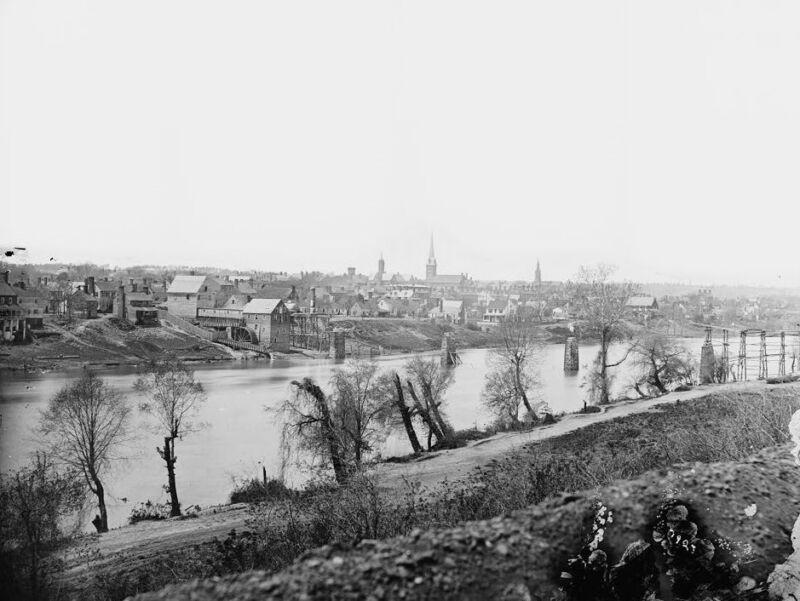 View of Fredericksburg Virginia from Rappahannock River 8x10 US Civil War Photo