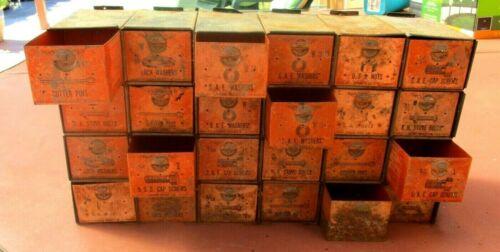 Vintage Dorman 24 Drawer Parts Cabinet Add-A-Bin Nuts & Bolts