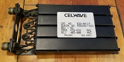 Celwave 4-cavity 440-474 Mhz Preselector Filter 633-4a-lp Uhf Band