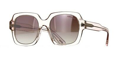 5fb8ff1914f8 Tom Ford AUTUMN FT 0660 Pink Crystal Violet Shaded Mirror (72Z) Sunglasses