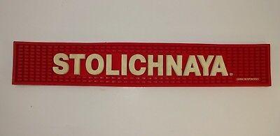 Stolichnaya Rubber Bar Rail Spill Mat - 21 Long Red Stoli Bar Mat