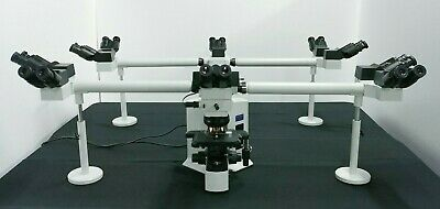 Olympus Microscope Bx51 Multihead 10 Headed Teaching System With 2x Objective