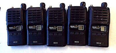 Lot Of 5 Tekk Xv-100 Bearcom Bc10 Two-way Radios Vhf Def Ijk