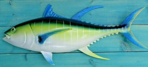 "Tuna Hand Blue Fin Painted 28"" Replica Wall Mount Sculpture Game Fishing"