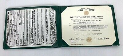 1991 US Army Commendation Medal Named Certificate