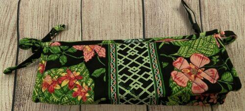 Vera Bradley Bow Cosmetic Bag in Botanica - Make Up Case - Floral, Pink, Black