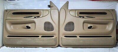 94-97 Dodge Ram 1500 2500 Pickup Truck LEFT RIGHT TAN WOODGRAIN Door Panel SET