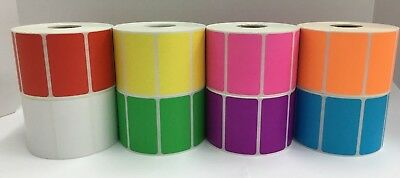 Pink 2.25x1.25 Direct Thermal Barcode Zebra Eltron 2 Rolls-1000roll