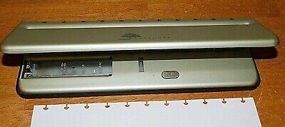 Levenger Circa Universal 11-hole Desk Paper Hole Punch With Adjustable Slide