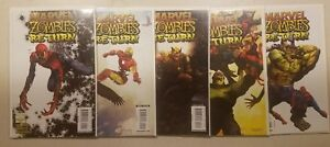 MARVEL ZOMBIES RETURN #1 2 3 4 5 COMPLETE SET #1-5 COMICS FULL SETS VF to NM