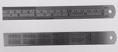 2Pc 6  Pocket Pouch Metal Measuring Ruler Set Metric   Sae Us Fast Free Shipping
