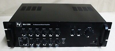 (Used, EV MA-1206 Professional Mixer/Amplifier 60w 12 channel. )