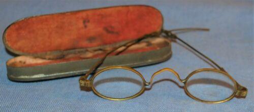 19th Century Adjustable / Temple Slide Glasses w/ Case