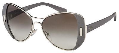 Prada Sunglasses PR 60SS UR90A7 55 Silver/Grey Frame | Grey Gradient Lens