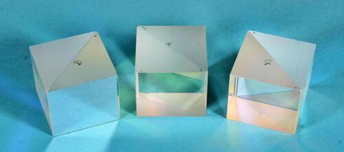 3 Cube Beam Splitters - 1 each for Red, Green & Blue Wavelengths