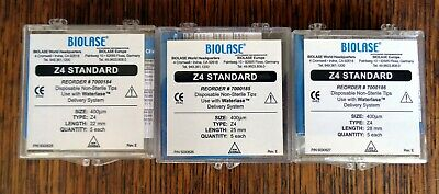 New Biolase Waterlase Laser Tips Z4 22mm 25mm 28mm 5 Each 15 Tips Total.
