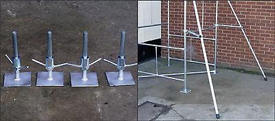 Par de Estabilizadores + Conjunto Ajustable Bases para Clásico Diy Torre Andamio