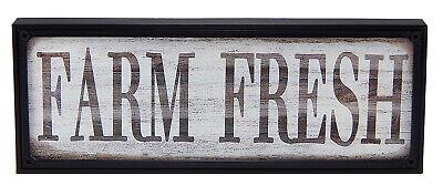 Farm Fresh Farmhouse Sign for Family Kitchen Dining Room Rustic Wall Art Decor Farm Room Decor