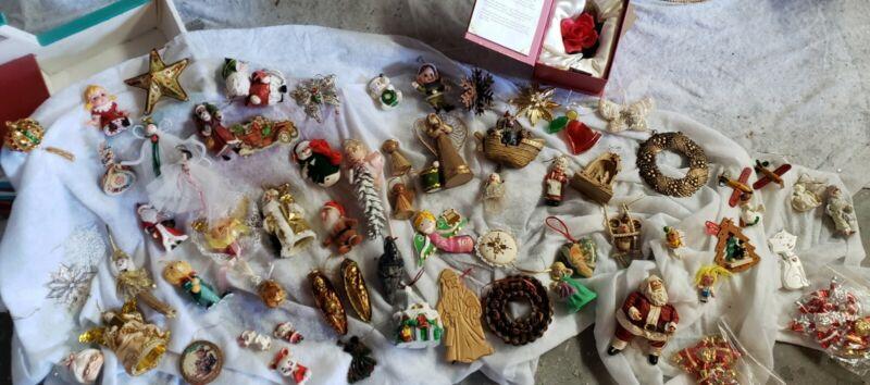 Large Lot of Rare, Unique Vintage Christmas Ornaments Dresden