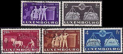 Luxemburg 1951 To Promote United Europe part set sg 544-8 Handstamped